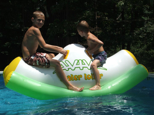 Water Totter Floating Totter Turn Around Water Toys Inflatable Totter Teeter