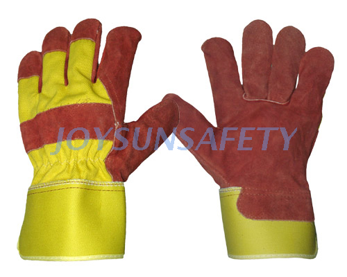 CB332 red leather palm gloves