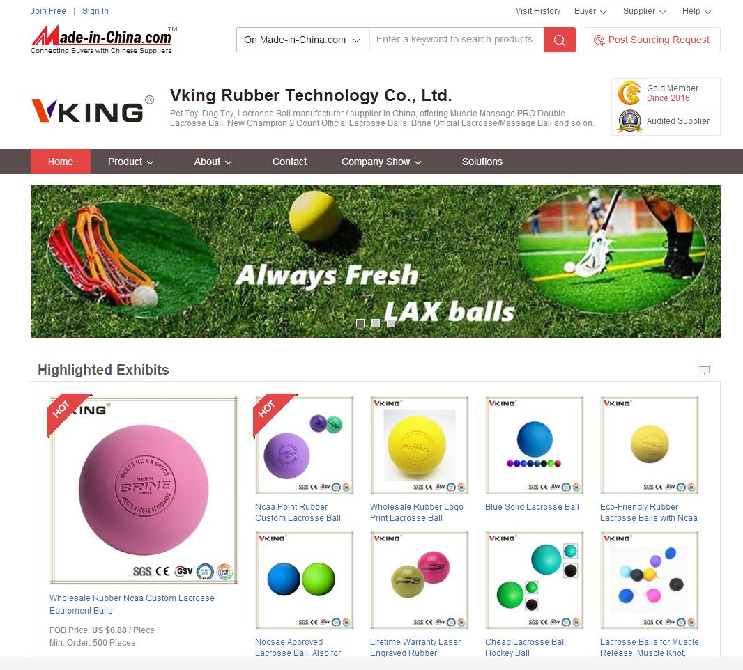 lacrosse ball, pet toy, massage ball, rubber parts on website of madeinchina