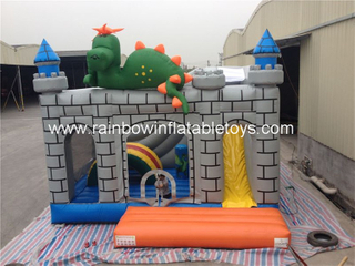 RB2012(5x5x4m)Grey Dinosaur Toy Inflatable Bounce Combo For Sale