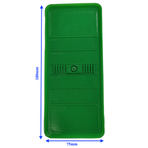 Panel Identification Plates 180mm x 75mm Green Color