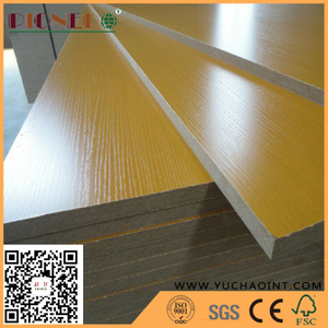 Indoor Usage Fibreboards Type Wood Grain Color MDF Board