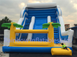 RB6094(10x6m) Inflatable Blue ocean Slide For Sale for child