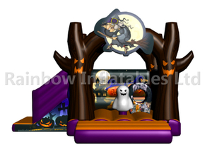 RB03107(4.5x5x3.5m)Inflatable Halloween Witch combo for Kids new design