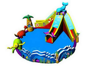 Inflatable Water Obstacle Course Inflatable Ground Equipment Water Toys