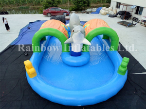 RB30019(10x6m)Inflatable Swimming Pool With Long Track For Sale