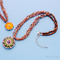 Beading Necklace With Amber Stone And Pattern Pendant N430/N429