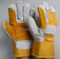 CB522 yellow leather double palm gloves