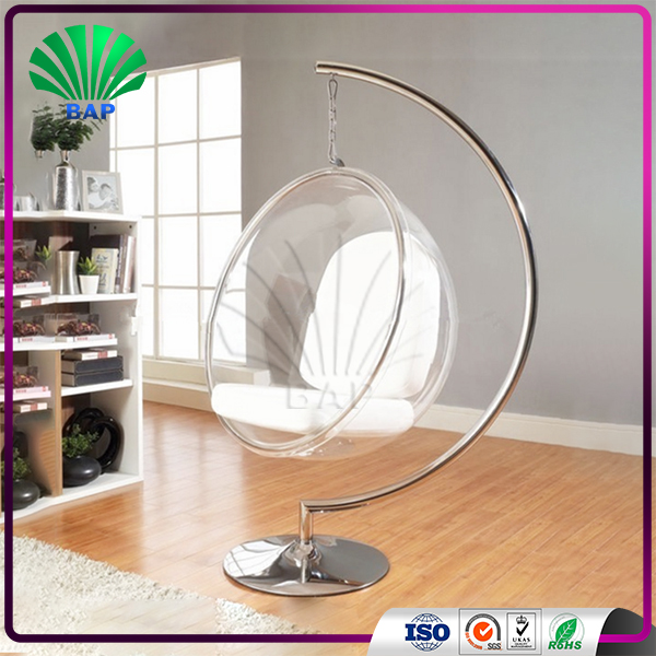 Fashionable Indoor Hanging Chair Clear Plexiglass Hanging Bubble Chair  Lucite Rocking Sofa