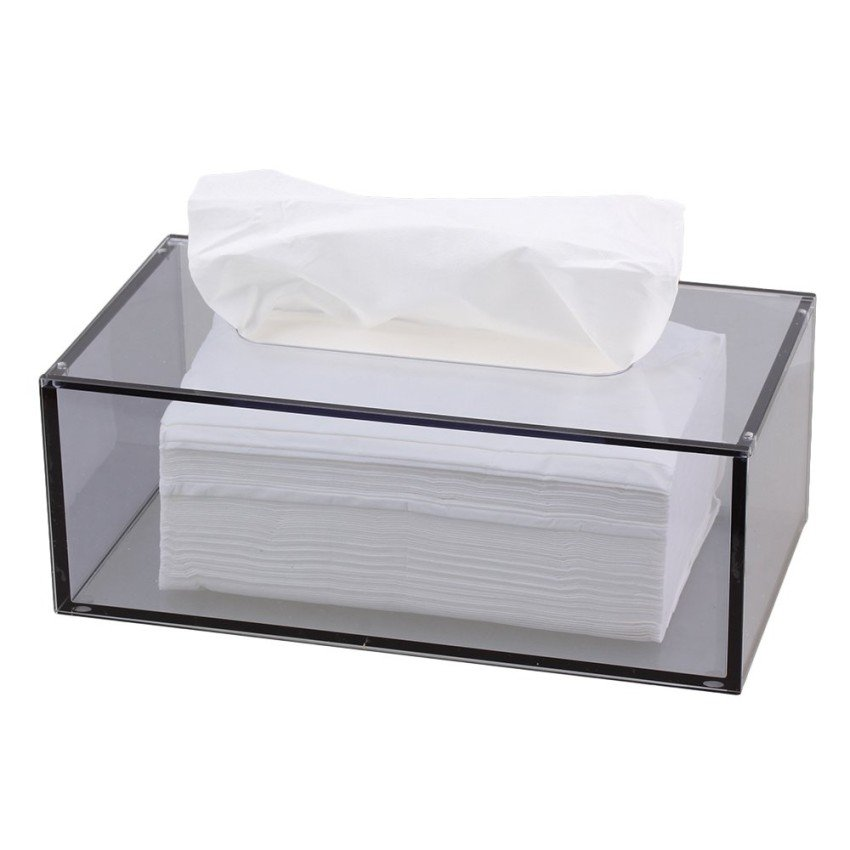 Smoke Color Acrylic Cube Tissue Box Wholesale Lucite Tissue Paper Boxes