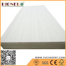 E1 Poplar Core bb/cc Grade Fineline Veneer Faced Commercial Plywood