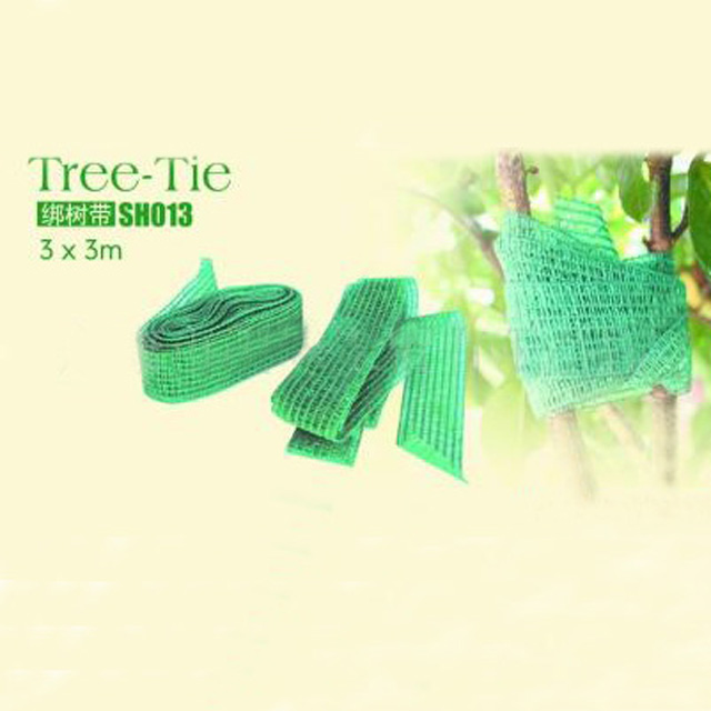 HDPE green color 0.03X3M tie tree belt