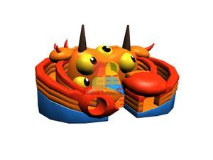 RB06117(8.7x6x3.4m)Inflatable crab giant double dry slide new design for sale