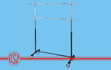 2 Tiers-single K/D Garment Rack with Large Caster