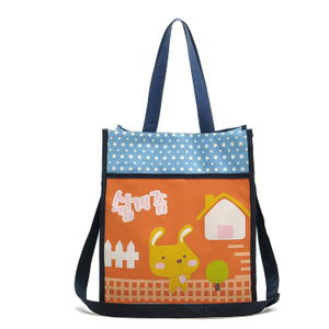 Denier Organizer Tote Bag with magnetic button closure