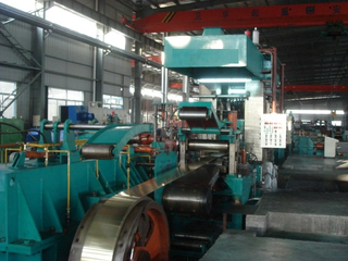 Hydraulic automatic types of sheet metal rolling mill machine