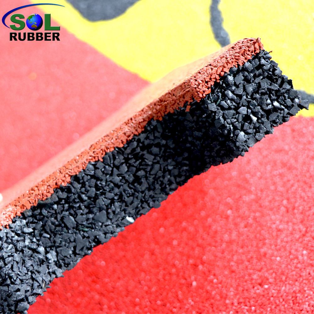 Sol Rubber Outdoor Driveway Recycled Rubber Brick Tiles