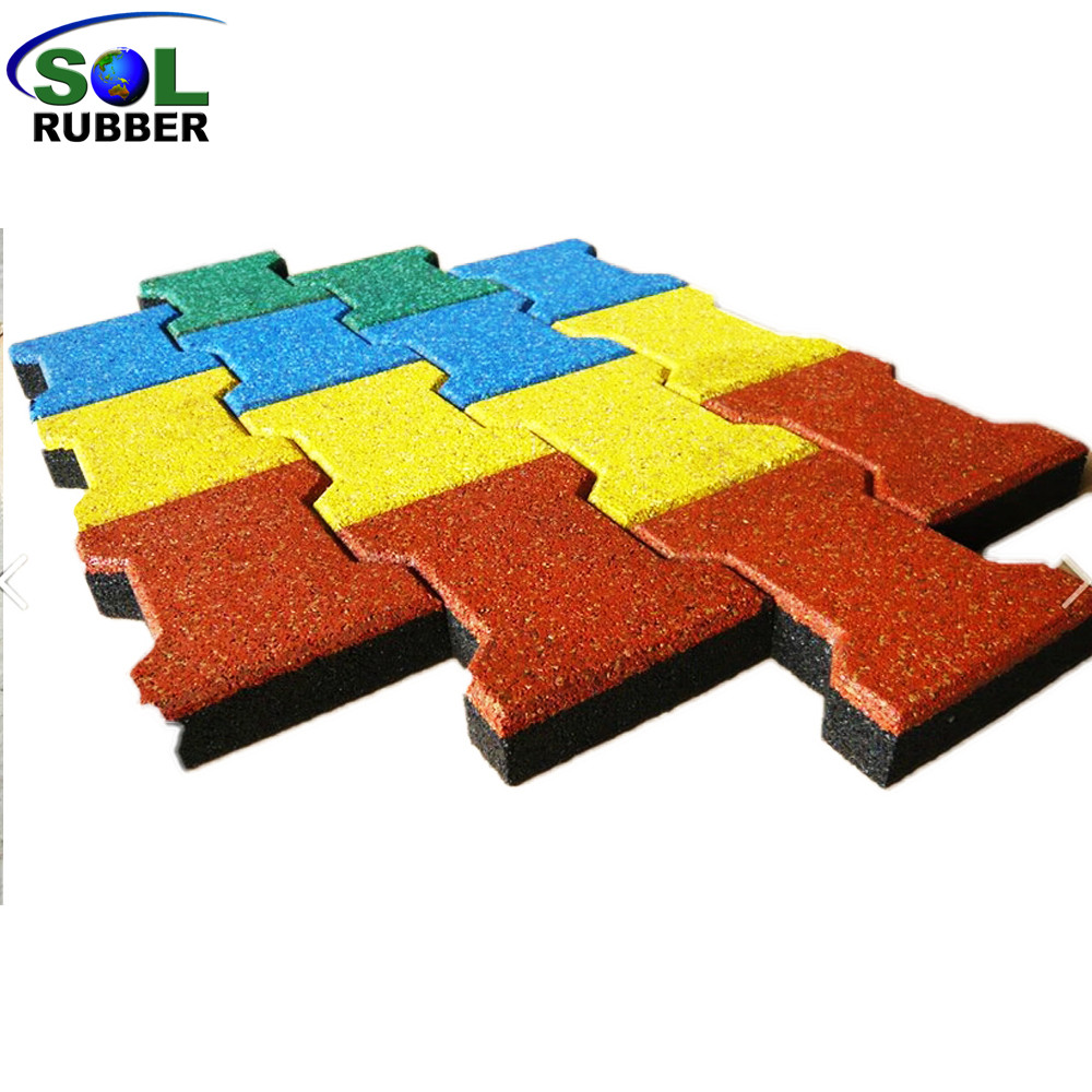 SOL RUBBER Outdoor Driveway Recycled Rubber Brick Tiles Patio Pavers Mats  Lowes EPDM Granules Surface,