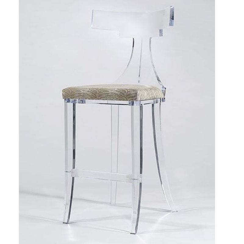 Counter Height Acrylic Bar Chair Custom Design Lucite Bar ...