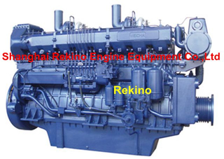 Weichai 8170ZC Medium speed marine diesel engine 600-818HP 1000-1350RPM