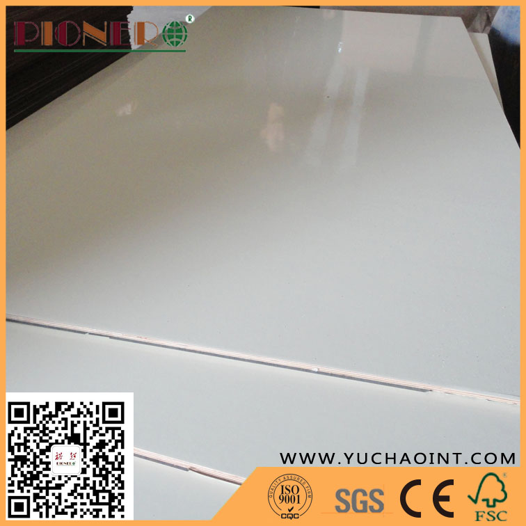 Gloss Polyester Laminated Melamine Plywood for Furniture Manufacture