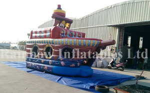 RB11012(5x2.8x4.5m) Inflatable Cheap Attractive Pirate Ship, Inflatable Pirate Boat Bouncer