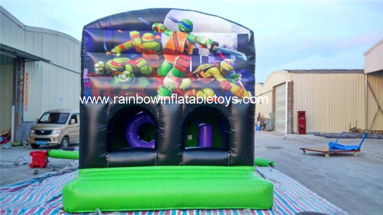 RB3091(8x3.5m) Inflatables Ninja Turtle Bouncer Castle For Outdoor Use