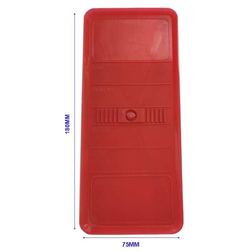Panel Identification Plates 180mm x 75mm Red Color