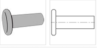 ASME/ANSI 18.1.1-1983(R2006) Flat head rivets