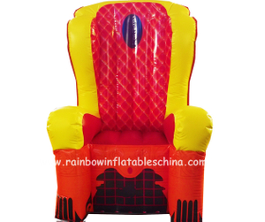 RB20006-4(1.22x2.39m) Inflatables Customized ThroneInflatable Party Chair For Sale