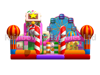 RB04124(9.5x10x5.3m) Inflatables Colorful candy house bouncy funcity