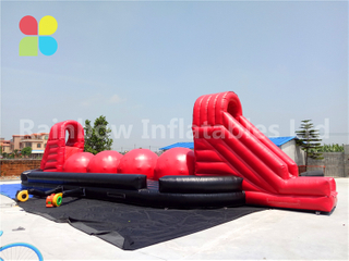 RB9004-1(17x6.3x3.9m) Inflatable Large Baller Game/Inflatable Wipeout Sport Game For Fun