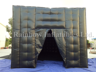 RB03021(7x5m) Inflatable Black Cube Tent For Advertising Party
