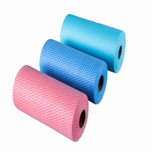 spunlace non woven for kitchen cleaning wipe rolls