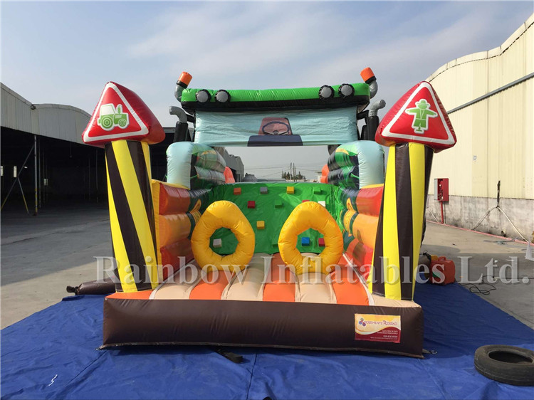 RB05130(8x4m) Inflatable Truck Shape Obstacle Course,Commercial Inflatable Obstacle Course For Children