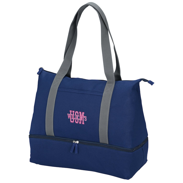 Customize Cotton Weekender Tote Embroidered logo