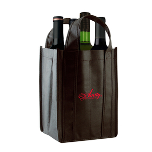 Non Woven 4-Bottle Bag