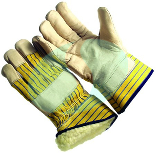 leather palm winter gloves (CAPL368)