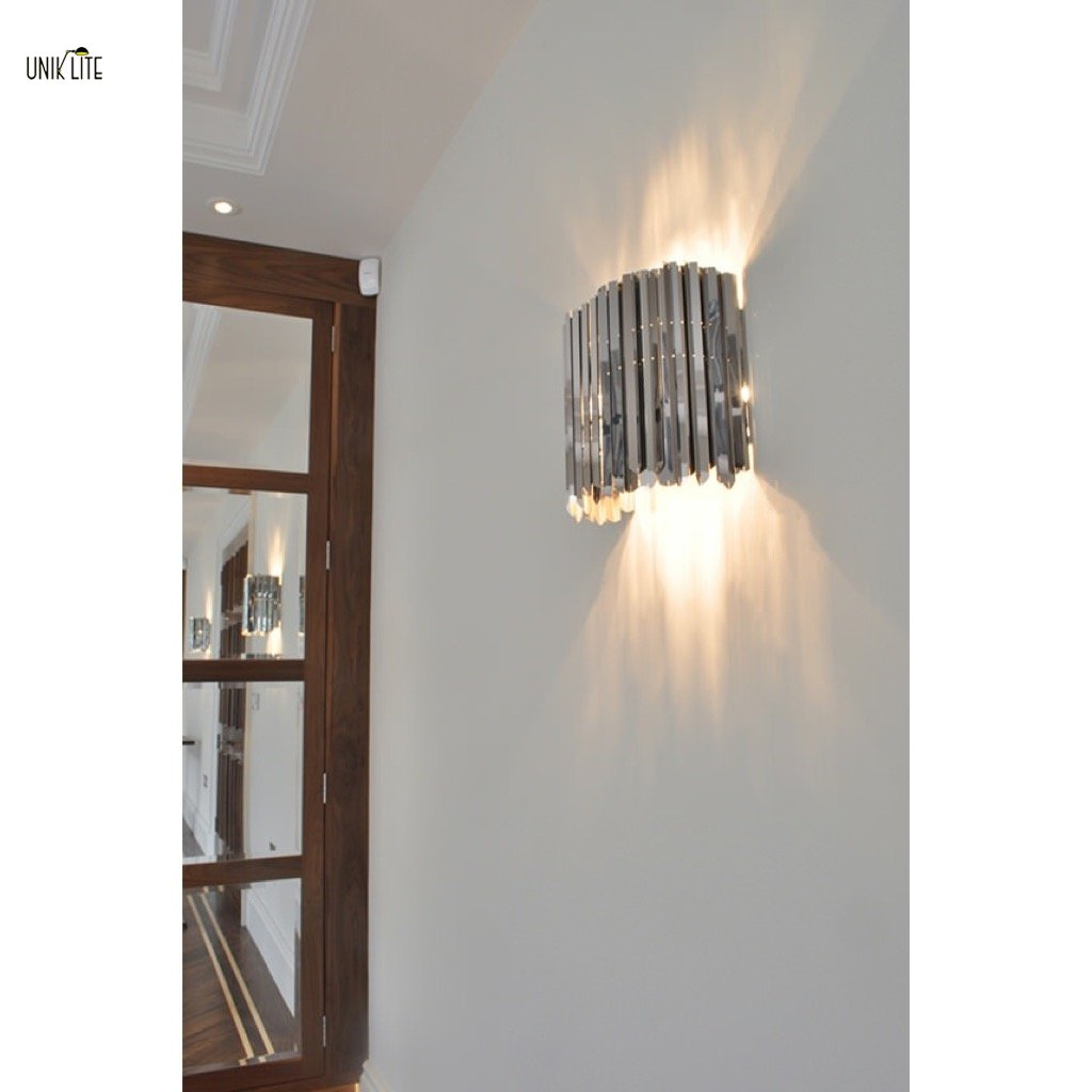 Unik modern stainless steel hotel wall lamp beside lamp for unik modern stainless steel hotel wall lamp beside lamp for decoration aloadofball Image collections