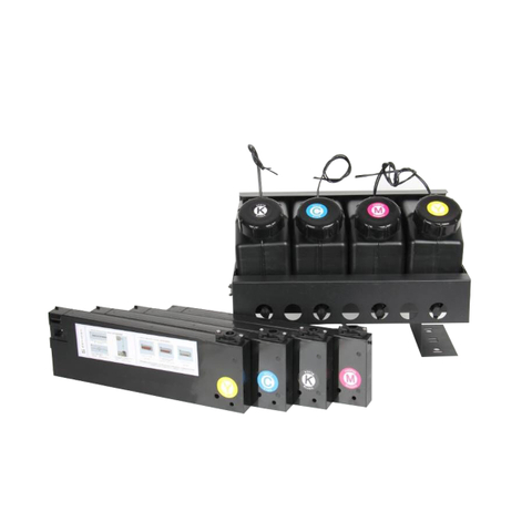 UV Serise Printer with 4colors CISS (4 ink barrels with 4 ink cartridge without chip )