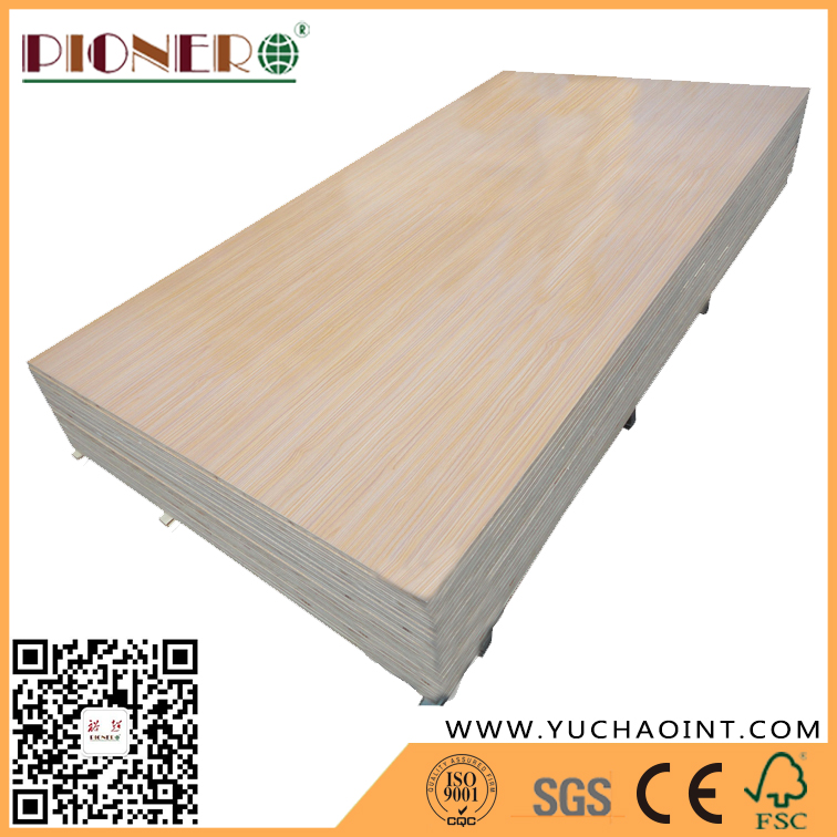 Good Quality Wooden Grain Melamine Laminated Plywood for Wardrobe