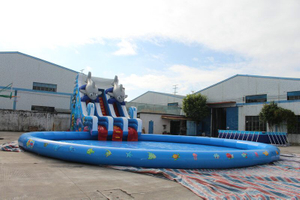 Kids Summer Playground Inflatable Water Park on Land