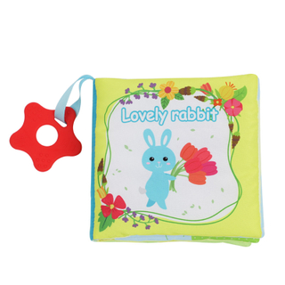 Touch and Feel Soft Activity Baby Book Cloth Books with teether
