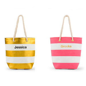 Womens Fashion Nautical Beach Striped Canvas Shoulder Bag Tote Handbag Messenger Bag