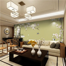 Chinese Embroidery Sofa Backdrop Wall Covering