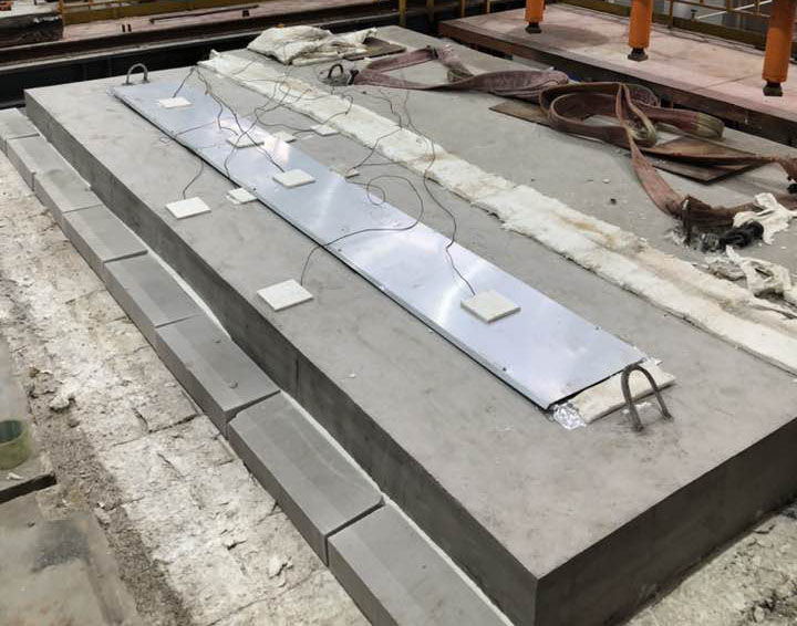 3 Hr fire test for Meishuo Fire barrier of expansion joint cover