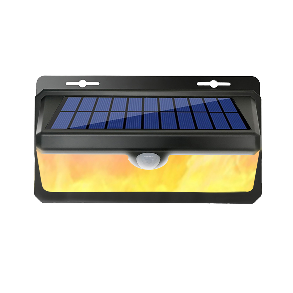 Waterproof Solar Powered LED Solar Garden Lamp Motion Sensor Bright 158 LED Flame Wall Decoration Light