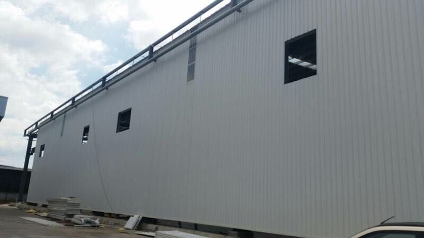 Wall of Malaysia Steel Structure Prefab Warehouse and Office