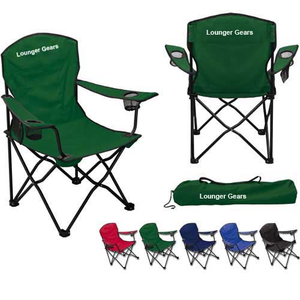 Sturdy Portable Beach Folding Chair with Cup holder