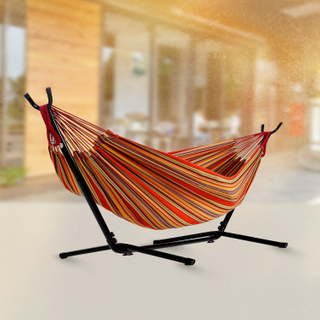 2019 Newest Print Design Cotton Iron Garden Hammock Stand Chair Bed